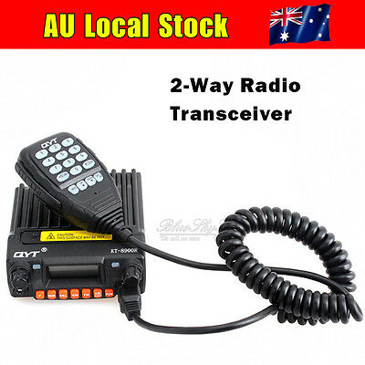 QYT KT-8900R U/VHF 25W 200CH FM Car Mobile Transceiver Two-Way Radio Car Charger