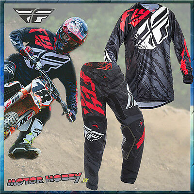 Completo Motocross Enduro Fly Kinetic Relapse Red Black 2017 Taglia M - 32