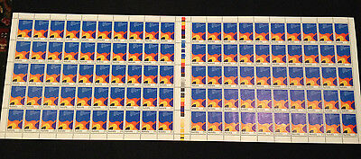 Rare Not Folded 100 Full Sheet 1983 ANZCER  27c Stamps