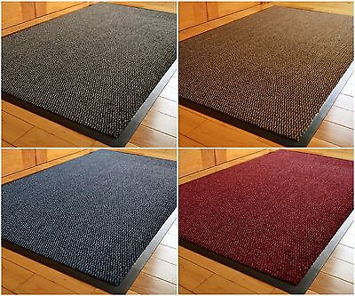Large & Small Non Slip Heavy Duty Rubber Barrier Mat Rugs Back Door Hall Kitchen