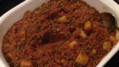 """kEEMA CURRY WITH MINCE MEAT AND POTATO RECIPE """"CHARITY AUCTION"""" A1"""
