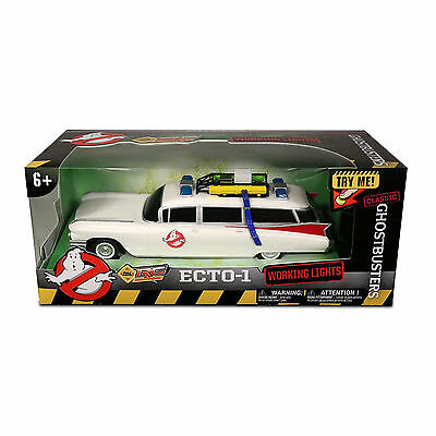 "GHOSTBUSTERS RC Classic Ecto-1 SOUND AND LIGHTS 14"" LONG Radio Control Car 27MHz"