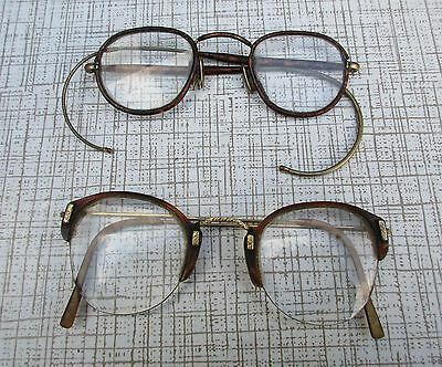 2 X Pair Vintage Nhs Spectacles Tortoise Shell