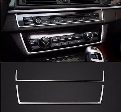 Stainless Steel Central CD Panel Decorative Trim For BMW 5 series F10 2011-2017