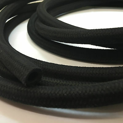 Cotton Braided Rubber Fuel Hose Pipe Suits Unleaded, Petrol, Diesel & Oil