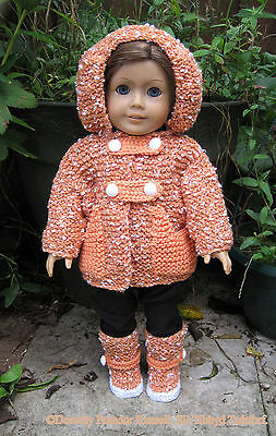 "Dolls Clothes KNIT PATTERN HKD615""Tamasyn"" sized to fit 18"" dolls/American Girl"