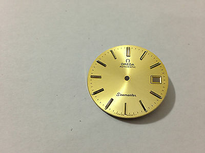 Beautiful Omega Seamaster Automatic Mens Watch Dial, Gold, Genuine