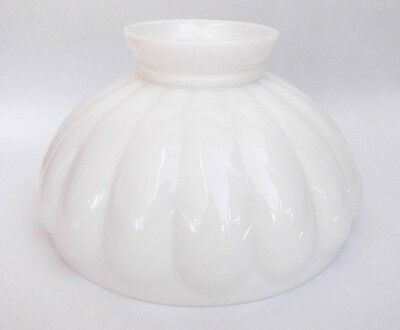 "Vintage Milk Glass 10"" Oil Lamp Shade Replacement Fits Aladdin Rayo"