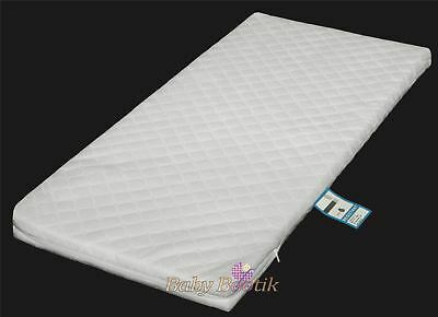 Baby Crib Foam MATTRESS 90 x 40 x 4 with Quilted Breathable Zip Cover