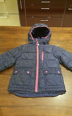 H&M Sport Girls Blue & Pink padded hooded Coat Age 5-6 Years