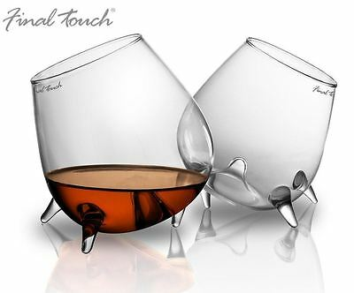 Final Touch Relax Cognac Brandy Whisky Glasses, Set of 2 - GC200