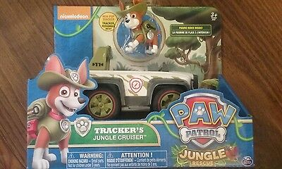 Paw patrol Tracker jungle rescue cruiser toy jeep toy dog
