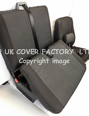 VW Transporter T5 Van Seat Covers- OEM Seating Fabric- Made to Measure
