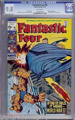 Fantastic Four #95 Cgc 9.8 White Stan Lee Story Highest Graded Cgc #1205387008