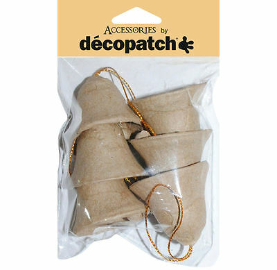 Decopatch AC377 Decoupage Christmas Decoration - Pack of 6 Bells