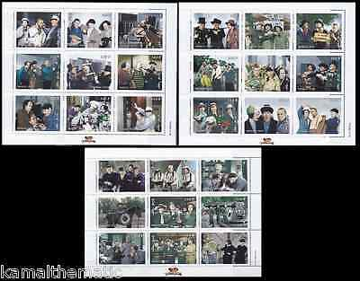 Three Stooges, Actor's, Movie, Entertainment, Mongolia 1998 MNH 3 SS Set - M14