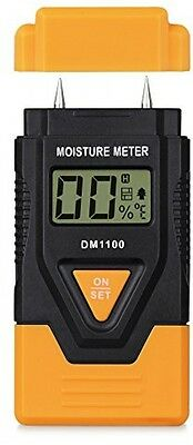 Damp Meter Proster LCD Digital Wood Moisture Meter Tester Detector 2 Pins With