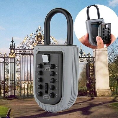 Outdoor Key Safe Box Lock Combination Digital Padlock Security Holder Waterproof