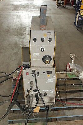ESAB Power Mig 385 3 Phase Industrial Mig Welder w Powerfeed Wire Feeder