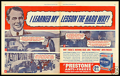 1940 vintage ad for Prestone Anti-Freeze