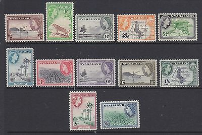 Nyasaland 1953 set to 2/6 Sg173-84  m-mint
