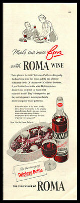 1955 vintage ad for Roma California Wines -276
