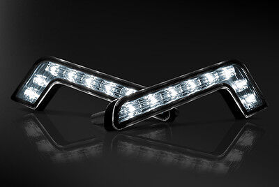 2019 Model - Car Universal Fitting 'L-Shaped' 8 LED Daytime Running Lights (DRL)