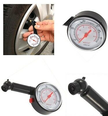 Car/Van/Lorry/Motorcycle/Cycle Tyre/Tire Pressure Gauge - PSI & BAR Scale