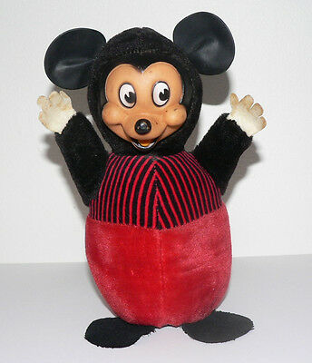 Vintage 1940s  Mickey Mouse Gund Roly Poly Chime WALT DISNEY PRODUCTIONS