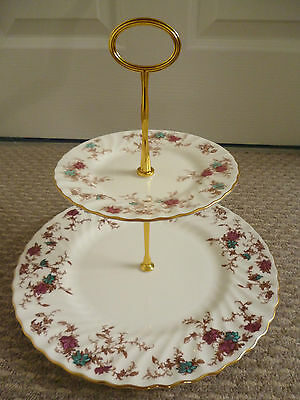 Minton Ancestral 2 Tier Cake Stand