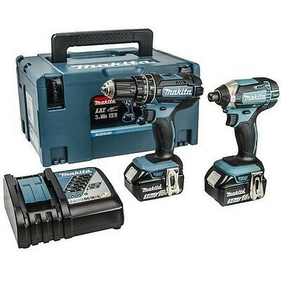 Makita Dlx2131J 18V Combi & Impact Driver Twin Pack With 2X 3.0Ah Li-Ion Batteri