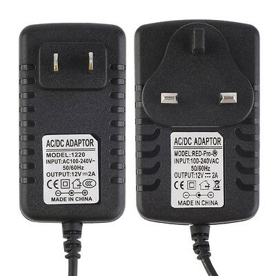 AC 100-240V to DC 12V 2A Power Supply Adapter Charger Converter LED Strip WA