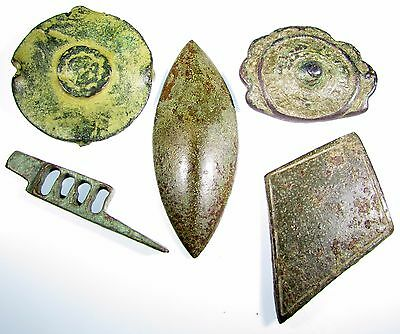 Scarce Lot Of 5 Roman To Medieval Bronze Artifacts - 2063