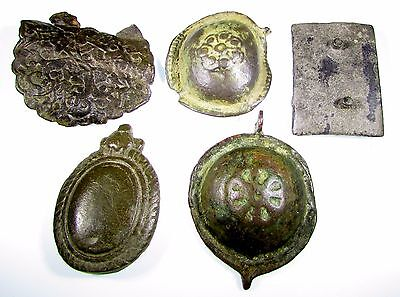 Superb Lot Of 5 Roman To Medieval Bronze Artifacts - 2065
