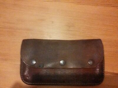vintage bus conductor leather money pouch/wallet