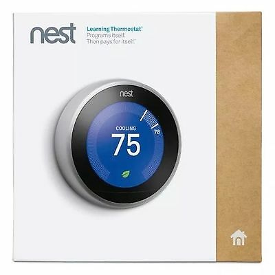 (NEW) NEST T3007ES 3rd GENERATION WI-FI LEARNING THERMOSTAT (SEALED) NO RESERVE