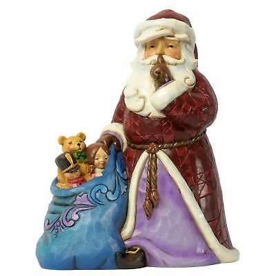 "Jim Shore Figur 4037599 ENESCO CHRISTMAS DEKORATION ""Silent Santa with Toy Bag"""