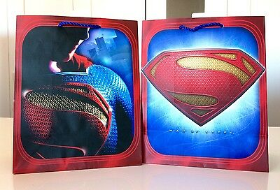 Lot of 9 Superman Gift Bags Hallmark Superhero Party Theme