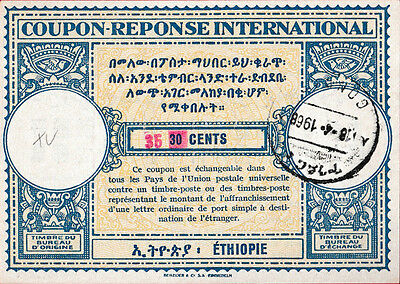 ETHIOPIA 35 on 30 CENTS International Reply Coupon
