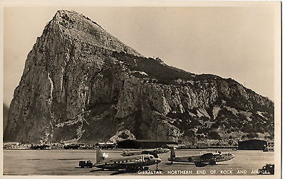 """Gibraltar, Northern End of Rock & Airport"" by Rex Tobacconist, Gibraltar RP/PC"