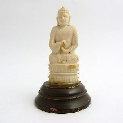 Antique Indian Carved Figure Of A Buddha