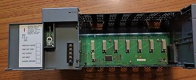 Allen Bradley Slc 500 7 Slot Rack 1746-A7 Series B W/ Power Supply 1746-P2 Ser A