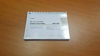Canon Powershot Sx710Hs Camera  Printed User Manual Guide Handbook 177 Pages A5