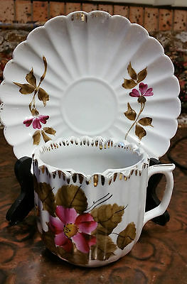 "Rare Vintage ""moustach Cup & Saucer"" Made In Germany"