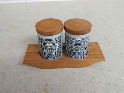 Hornsea Pottery - Vintage - Tapestry - Salt & Pepper Shakers w/Tray