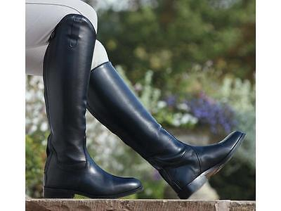 Shires Norfolk Long Leather Zip Up Riding Boots *ALL SIZES*