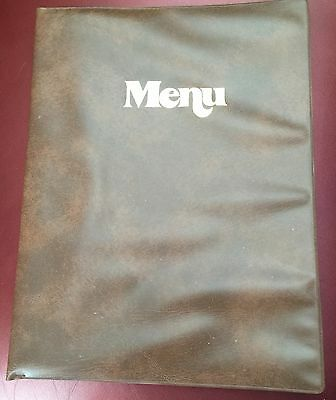 Lot of 45 Faux Leather Menu Covers