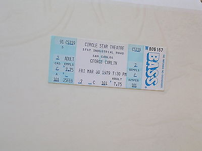 Rare Circle Star GEORGE CARLIN Performance TICKET 3.30.79