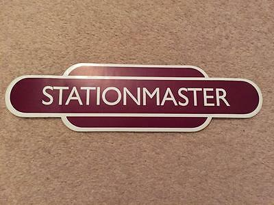 Railway / Train Totem Station Sign - Stationmaster