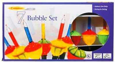 Sienna Celebrations Lighting G11GR2A1 Set of 7 Multi-color Christmas Bubble